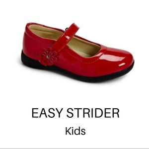 EASY STRIDER Red Flower-Strap Mary Jane shoes